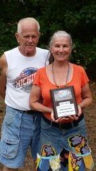 Kiki Alexander and Vern Neveraski Top Camper Winners