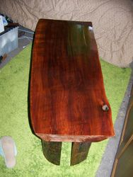 """Cedar coffee-table made with single plank 3""""thick"""