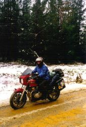 1999 Might have to wash the bike when I get home - Marg Barlow.