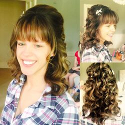 Half Up/Down curls for the Stunning Sally