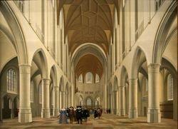 Saenredam, St. Bavo Church in Haarlem,  1631, Philadelphia