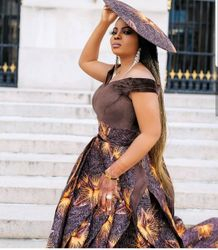 Showstopper Ankara Outfit with Afro-Fusion Headpiece