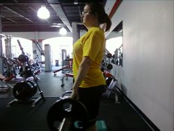 Beginning the deadlift!