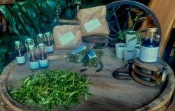 Hampaprodukter på Salttunnan från förr på gården med bomärket