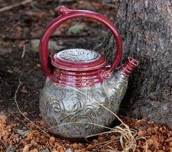 Raspberry & Swirls Teapot