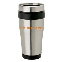 Stainless Steel Travel Mug, 14oz. | Insulated | No-Spill Lid | Keeps drinks hot or cold for hours | BPA Free & FDA Compliant | Dishwasher Safe