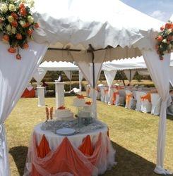 Tent corner draps