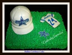 Dallas  Cowboys Cake with Cap