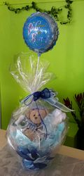 Baby Boy basket with Balloon