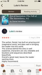 Luke's Review of Eve of Ascension