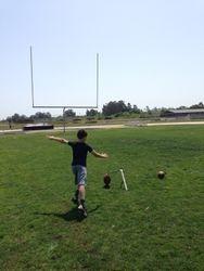 Kyler approaching the ball.