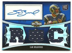 "2010 Triple Threads SAM BRADFORD ""Auto"" Rookie Card  #'d 8/99"