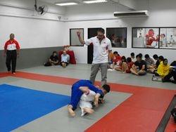 Zen Do Ka Sensei peter Robertson acting as referee in grappling tournament at Budo Academy