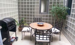 Inner courtyard with barbeque