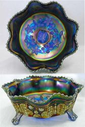 Butterfly and Berry, ftd master bowl, blue