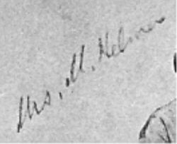 Mrs. M. Kelmer or Helmes reverse