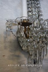 #28/059 PAIR BELGIAN WALL LIGHT FIXTURES  DETAIL
