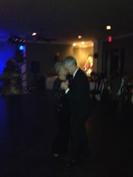 Kenny Malone dancing with Carol Read