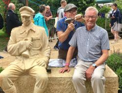 Allan & Sculptor Thompson Dagnall at the Chorley Flower Show 2019