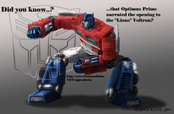 Did You Know Optimus Prime Narrated Voltron?