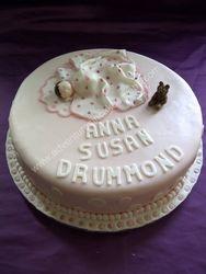 sleeping baby christening cake