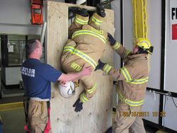 Window Bailout Simulator Training, 3-15-11