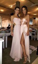 the bridesmaids Alessandra Ambrosio and Adrianna Lima