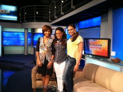 Robin Givens & Demetria McKinney On The Local 4 Morning News In Detroit!