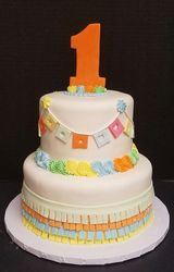 Fiesta Themed Birthday Cake