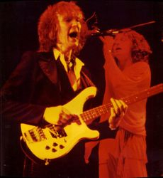 Yes in Chicago, late 1970s - Chris Squire and Jon Anderson (photo by David Royko)