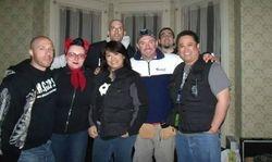 Joe Chin Christine Downes and the gang at SK Pierce Mansion