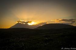 Sunset in Glasnakille - Isle of Skye