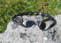 Forged Steel Torc Bracelet
