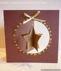 Hanging Layered Star Card