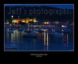 Conwy Castle, Conwy, Wales (Night)