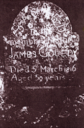 James Gouedy Tombstone