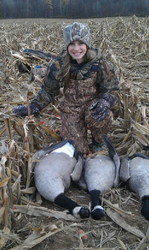 Andrea harvested her first goose.