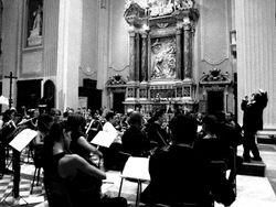 Maestra Conejero conducting in Massa (Tuscany), Italy