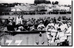 Crew in White Jumpers on U-Boot 33.