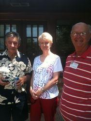 Don Higginbottham, Sandy Scheuermann, and Larry Scheuermann