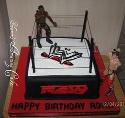 CAKE 20A1 -Wrestling Cake