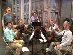 With the Chattanooga Symphony String Quintet