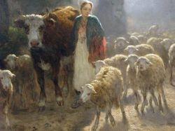 Troyon, Going to Market, 1851, Clark Institute