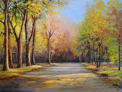 Park in Autumn.
