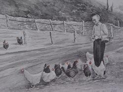 Grandpa and Chicks