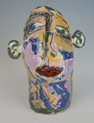 Mary Jones Ceramics.  Bubble gum lips.  SOLD