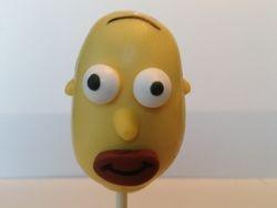 Homer Simpson Cake Pops