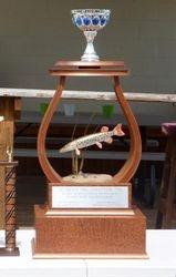 Custom trophy for Muskies inc. 58