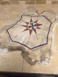Rabbit hide painting warbonnet design