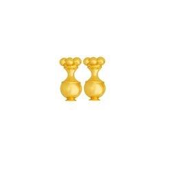 Topos medianos de poporo - Precolumbian poporo piece studd small sized earrings
